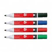 5 Star Drywipe Marker / Bullet Tip / Assorted Colours / Pack of 4